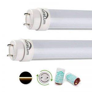 4x Tube LED Auralum® 90CM Néon Orientable T8 12W Tube Fluorescent Culot G13 SMD Lumière Blanc Chaud 2800-3200K - Équivalence Incandescence 24W Vient avec Starter LED de la marque AuraLum image 0 produit
