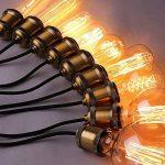 5×Neverland E27 40W Edison Rétro Lampe Antique Vintage Incandescence Ampoules Poire à cage d'écureuil Filament 50V-240V A19 de la marque Neverland image 3 produit
