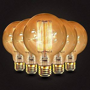 5×Neverland E27 40W Edison Rétro Lampe Antique Vintage Incandescence Ampoules Poire à cage d'écureuil Filament 50V-240V G95 de la marque Neverland image 0 produit