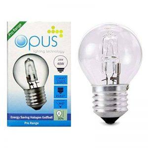 5 x Ampoules Sphérique Halogènes 28W = 40W Culot a Vis ES E27 de la marque Opus Lighting Technology image 0 produit
