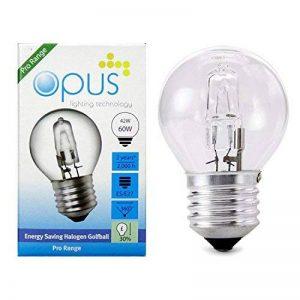 5 x Ampoules Sphérique Halogènes 42W = 60W Culot a Vis ES E27 de la marque Opus Lighting Technology image 0 produit
