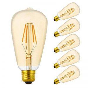 5 X LED Ampoule Filament Edison E27,4 W ST64 Ampoule Rétro Filament,Equivalent à 40 W Ampoules Incandescence,2200 K clair,EN VERRE Doré décoratifs,E27 LED Ampoule,350LM,Dimmable de la marque baoxing image 0 produit