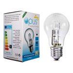 5x Opus 28W = 40W culot à vis GLS es E27long life Transparent Ampoules Eco Halogène Compatible variateur d'intensité pour lampes à économie d'énergie de la marque Opus Lighting Technology image 4 produit