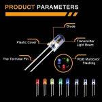 550PCS 5mm Diode Électroluminescente Ampoule LED Round Rouge Jaune Vert Bleu Blanc Orange Violet RGB Multicolore 8 Couleurs de la marque TAMAYKIM image 3 produit
