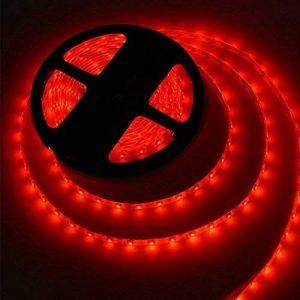 5M Bandes LED Flexibles 12V, Ruban LED,Rouge, 300 unités 5050 SMD LEDs, Imperméable IP65, décoration luminaire d'intérieur, moderne pour la fête Noël/ Sapin [Classe énergétique A+] de la marque MAIKAIRUI image 0 produit