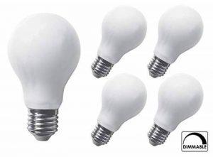 5x greenandco® Ampoule à Filament LED dépolie graduable E27 8W (équivalent 70W) 1000lm 2700K (blanc chaud) 360° 230V AC Verre de la marque greenandco image 0 produit