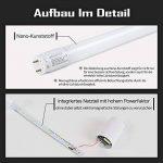 5x SBARTAR Tubes Fluorescentes LED T8 G13 Lumiéres fluorescentes 120cm LED Lampes économique de replacement 17W Blanc Froid 6500k avec Starter Couverture Nano-Plastique de la marque SBARTAR image 4 produit