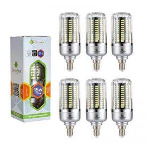 6×GreenSun 15W E14 Led économie d'énergie de maïs Ampoules SMD 5736 Équivalent Haute Puissance de la lampe Blanc Froid AC 85-265V 100W Incandescent Lumière de la marque GreenSun image 0 produit