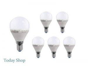 [6Pack] Ampoule LED E14, 6W à 48W, lumière jaune/chaud 3000K, 480lumens, culot Petit, Lot de 6[classe d'efficacité énergétique a +] de la marque EXTRASTAR image 0 produit