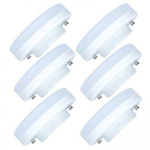 6 Pack GX53 LED Ampoule 7W-600LM Ampoule Lampe Blanc Chaud 3000K 27 SMD 2835LEDs Faible Consommation Lampe LED AC220-240V de la marque Tatalantai image 0 produit