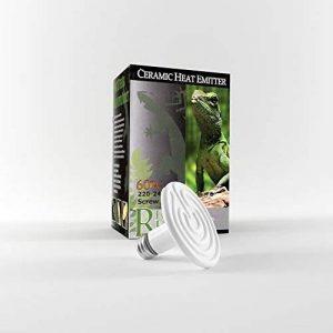 60W en céramique Reptile émetteur de Chaleur, Chaleur Infrarouge Lampe Ampoule pour Reptiles et Poulet Brooders AC 220V (60W, Blanc) de la marque Real Deal Reptile image 0 produit