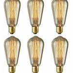 6pcs of Wootly Tungstène Edison Ampoule Coloration Ambrée Incandescence Verre Antique Lampe. ST64 60W Sapin de Noël, E27, 220V, Lumière Chaude de la marque Wootly image 1 produit