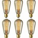 6pcs of Wootly Tungstène Edison Ampoule Coloration Ambrée Incandescence Verre Antique Lampe, ST64 40W Straight Wire, E27, 220V, Lumière Chaude de la marque Wootly image 1 produit