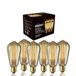 6pcs of Wootly Tungstène Edison Ampoule Coloration Ambrée Incandescence Verre Antique Lampe. ST64 60W Sapin de Noël, E27, 220V, Lumière Chaude de la marque Wootly image 0 produit