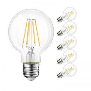 6W Ampoules LED Filament E27 G80, Equivalent à Ampoule incandescence 60W, Rétro Edison Ampoule Antique Lampe, 800Lm 2700K Blanc Chaud, Lot de 6, Non Dimmable, LVWIT de la marque LVWIT image 0 produit