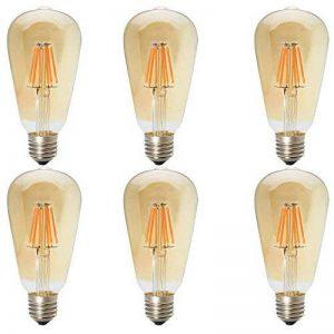 6X E27 Ampoule Vintage Retro 6W Dimmable Ampoule Filament LED ST64 Ampoule Edison Blanc Chaud 2200K Super Brillant 500LM LED de Edison AC220V de la marque ITALASA image 0 produit