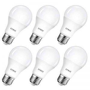 8.5W Ampoule LED E27 A60 LVWIT, 6500K Blanc Froid Equivalent a 60W, 806Lm Non-Dimmable, 6 Packs de la marque LVWIT image 0 produit