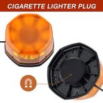 8 COB Gyrophare Magnetique Orange LED Voiture Clignotant Gyrophare Signal d'Avertissement Lumière d'Alarme Lumière pour Voiture Bateau Toit. (40W) de la marque Appow image 3 produit