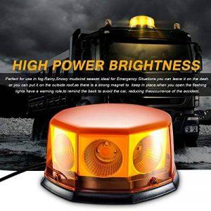 8 COB Gyrophare Magnetique Orange LED Voiture Clignotant Gyrophare Signal d'Avertissement Lumière d'Alarme Lumière pour Voiture Bateau Toit. (40W) de la marque Appow image 0 produit