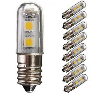 8pcs en Lot ampoules LED pour réfrigérateur E141W 7SMD 5050Couleur Blanc chaud 15W Remplacement pour ampoule halogène 3000K 45lm économie d'énergie 220V [Classe énergétique A +] de la marque MiYan image 0 produit