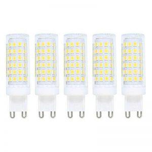 9W G9 Ampoule LED,Dimmable,Ampoule Halogène 70W équivalent,700lm,Omnidirectionnelle 360°,Blanc Froid,6000K,G9 Ampoule,Ampoule Maïs Léger,Ampoules LED, Lot of 5 de la marque baoxing image 0 produit