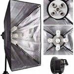 Abeatstudio Softbox Kit d'arrière-plan avec éclairage continu 3375W Ampoules lumière du jour 15x225W 5400K, 5ampoules à douille, 4toiles de fond (noir/blanc/vert/gris), 3supports de lampe de 2m, 1support de fond de 2x3m, 1perche, 1réflecteu image 3 produit