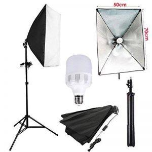 Abeststudio Photo Studio Softbox Kit d'éclairage avec Softbox 50x70cm Softbox et 2m Monture Universelle,1x 25W E27 5500K LED Ampoule Support Produit Portrait Professional pour l'Enregistrement Vidéo de la marque Abeatstudio image 0 produit