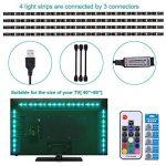 Adoric Ruban LED RGB 2M 5050 SMD 60 LEDs Light Strip Flexible Multicolore Décoration Chambre TV Tableau Miroir avec Télécommande de 17 Touches+5 piles bouton de la marque Sunnest image 2 produit