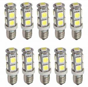 Aerzetix: 10x ampoules E10 9LED SMD 12V lumière blanche C17492 de la marque AERZETIX image 0 produit