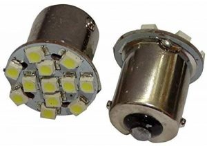 Aerzetix: 2x ampoule 24V P21W R10W R5W 12LED SMD blanc pour camion semi-remorque porte de garage portail de la marque AERZETIX image 0 produit