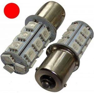 Aerzetix: 2x ampoule P21W R5W R10W 12V 18LED SMD rouge base 1156 de la marque AERZETIX image 0 produit