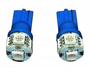 Aerzetix 3800946165323 Ampoules T10 W5W 12 V à 5 LED SMD, Bleu, Set de 2 de la marque AERZETIX image 0 produit