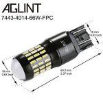 AGLINT 2X 7443 AMPOULE LED 4014 Garde toujours 66SMD Extrêmement Lumineux 1200 Lumens W21W T20 7440 LED Utilisation Légère Auto Pour Tour Signal Lumière de Frein Tail Sauvegarde Inversée Lumières 6000K Blanc de la marque AGLINT image 4 produit