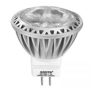AGOTD LED SPOT GU4 MR11,3W LED 35W ampoule AC/DC 12V, 250LM (1 X Blanc Froid 6000K) de la marque AGOTD image 0 produit