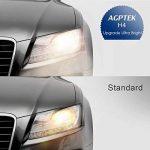 AGPTEK 2X H4 Ampoules Auto Xénon 12V 55W Phares Voiture Ampoules Halogène Auto Moto Super Brillant Lampe Véhicule Certifié par E4, E13- Blanc de la marque AGPTEK image 4 produit