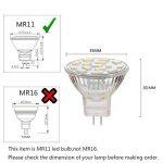 Ahevo ampoule LED Gu4.0 MR11 3.5 W , équivalent à 25-35 W ampoules halogènes, Gu4.0 Base AC/DC 12 V, 350 lm, 120 ° Faisceau Large, Blanc, éclairage encastré, éclairage Track, Lot de 4 (6000 K), blanc, GU4, 3.50 wattsW 12.00 voltsV de la marque Ahevo image 1 produit