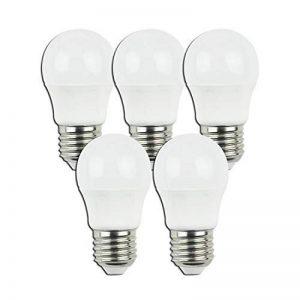 Aigostar - Pack de 5 ampoules LED E27, 5W équivalent à40 watts, lumière couleur chaude 3000K, 400 lumens. non réglable. de la marque Aigostar image 0 produit