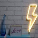 AIZESI Lampe Foudre Deco Neon Light,Ampoules Néon,Marquee Led Ligths Décoration Murale Filles Chambre,Salon,Noël,Fête comme Cadeau Enfants(Lightning blanc chaud) de la marque AIZESI image 4 produit