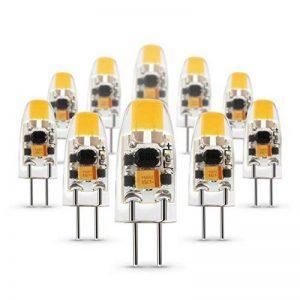 Albrillo [Lot de 10] Ampoule G4 LED - COB, 1.5W 120LM, Équivalent 20W Halogène/Incandescente Ampoules, 360° de faisceau, AC/DC 12V 3000K Blanc chaud,en Silicone [Classe énergétique A++] de la marque Albrillo image 0 produit