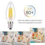 Albrillo [lot de 6] Ampoule LED E14 Filament, ampoule bougie led 4W - Équivaut ampoule incandescente 40 W, 350LM, Angle de 360°, 2700K Blanc Chaud de la marque Albrillo image 2 produit