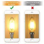Albrillo [lot de 6] Ampoule LED E14 Filament, ampoule bougie led 4W - Équivaut ampoule incandescente 40 W, 350LM, Angle de 360°, 2700K Blanc Chaud de la marque Albrillo image 4 produit