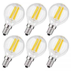 Albrillo Lot de 6 LED Ampoule E14 - G45 à Filament, 4W 400LM Equivaut à Ampoule Incandescente 40W, forme classique, 2700K Blanc chaud, Angle de faisceau 360° de la marque Albrillo image 0 produit