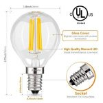 Albrillo Lot de 6 LED Ampoule E14 - G45 à Filament, 4W 400LM Equivaut à Ampoule Incandescente 40W, forme classique, 2700K Blanc chaud, Angle de faisceau 360° de la marque Albrillo image 1 produit