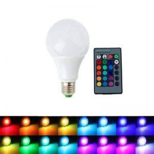 ALED LIGHT AC85-265V E27 9W RGB Ampoule LED 16 Changement de Couleur Ampoule + Télécommande IR 24 Télécommande Clé pour Festival de Vacances Décoration Parti Maison Lumière de l'atmosphère de la marque ALED LIGHT image 0 produit