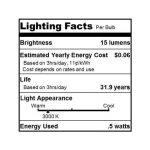Alfa Lighting Ampoule C7/E12 à LED Blanc doux 0,5W/5W 15LM 2900K de la marque Alfa image 2 produit