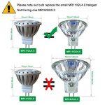 AlideTech Ampoules LED MR11 GU4.0 12V Remplacer 10W 20W 35W Ampoule Halogène, 3W Blanc Chaud 2700K Lumière Spot Led, 35mm Diamètre, Culot GU4.0, 250LM, 30 Degré, Lot de 6 Unités de la marque AlideTech image 1 produit