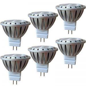 AlideTech Ampoules LED MR11 GU4.0 12V Remplacer 10W 20W 35W Ampoule Halogène, 3W Blanc Chaud 2700K Lumière Spot Led, 35mm Diamètre, Culot GU4.0, 250LM, 30 Degré, Lot de 6 Unités de la marque AlideTech image 0 produit