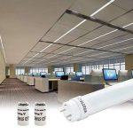 ALOTOA 2ft 10W T8 LED Tube Fluorescent, Tube LED Longueur 60 cm avec prise G13 Blanc Naturel 4000k 1000LM Tube Remplace 20W Traditionnels tube(2 pièces) de la marque ALOTOA image 3 produit