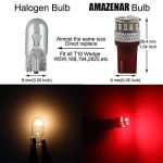 AMAZENAR 4 LED rouges 5ème génération 194 168 921 240 lumens 12 V-24 V pour équipements extérieurs ou intérieurs de voiture Référence T10 18SMD 3014 de la marque AMAZENAR image 2 produit