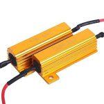 Amazenar 4 Pack de 50 W 6ohm Résistance de Charge pour LED Clignotant Lumière (Fix Hyper Flash, Avertissement Canceller, Fix ERROR Presque Flash) avec 4pcs Quick Wire Clip de la marque AMAZENAR image 1 produit